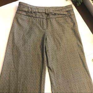 Black print wide leg dress pants size 30